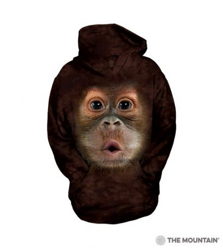 Kids Hoodies - Big Face Baby Orangutan - The Mountain®